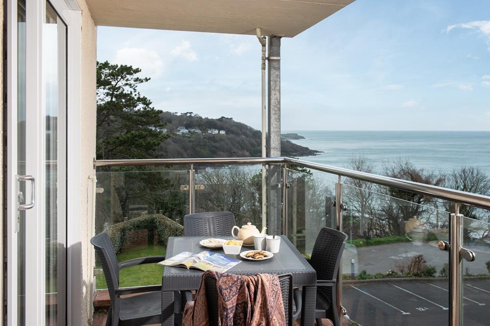 Spectacular views from the private balcony.