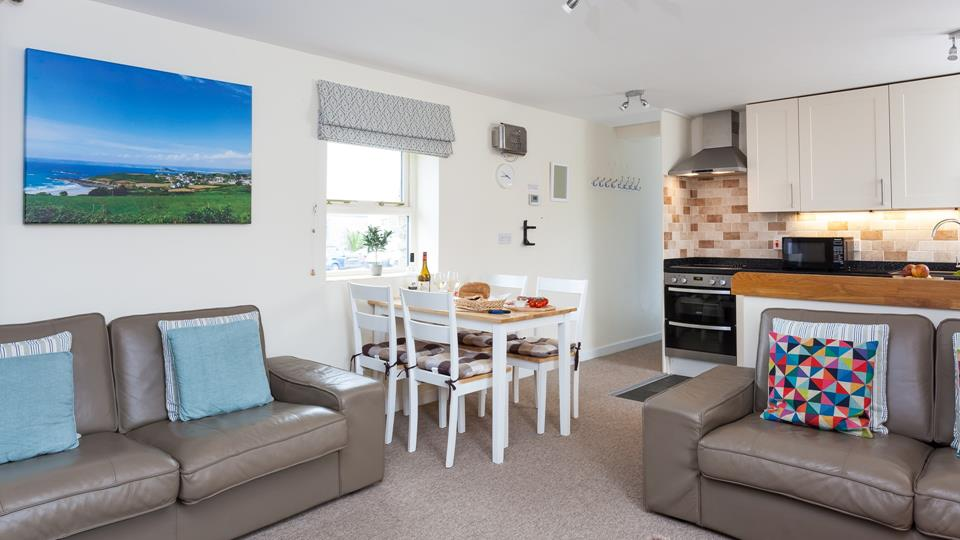 A spacious open plan living area ideal for a family holiday.