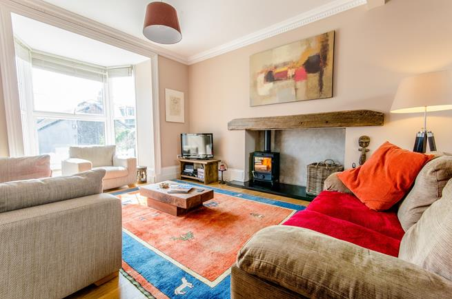 Spacious sitting room with woodburner for those cosy family evenings.