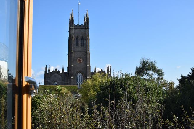 St Mary's Church is visible from the rear