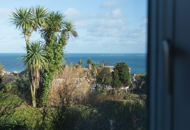 The view of the sea from the apartment.