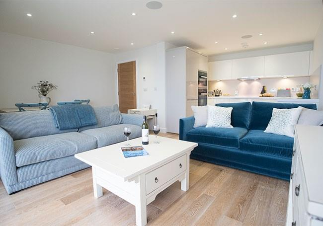 Clean and comfy open plan living.