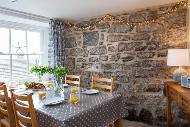 Enjoy breakfast overlooking Newlyn.