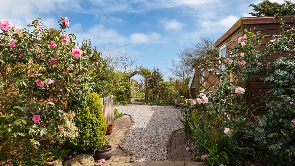 Penrose Cottage has a stunning outdoor area for you to enjoy in the Cornish sun.