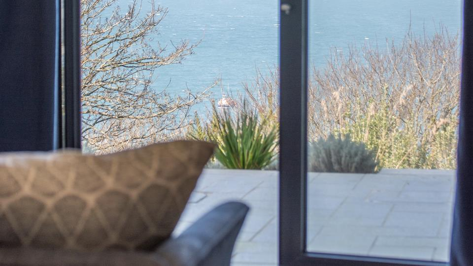 The view from the living space across St Ives Bay is simply stunning.