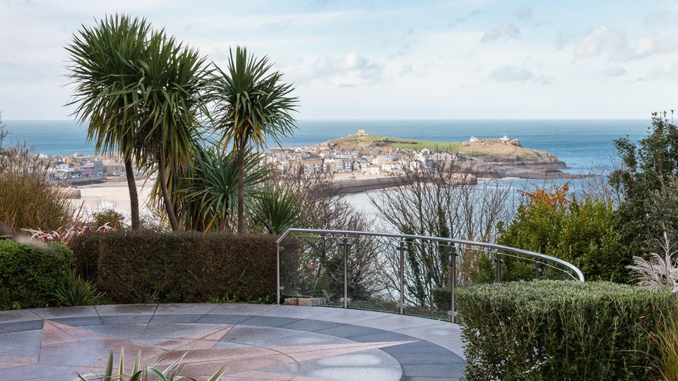 Communal gardens overlooking St Ives.