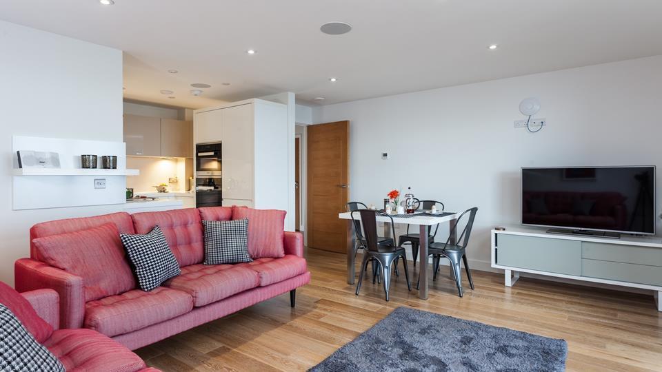 Kitchen, sitting & dining area.