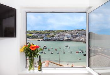 Views over the harbour & St Ives.