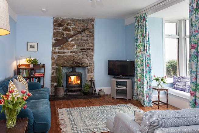 The living room has a woodburner which will keep you toasty in the colder season