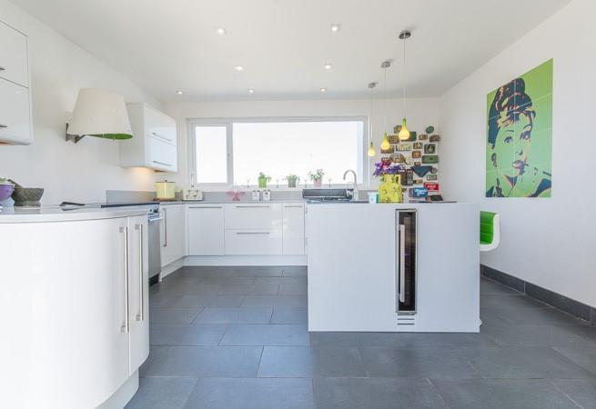 A modern well equipped kitchen,provides all you need for cooking up a feast.