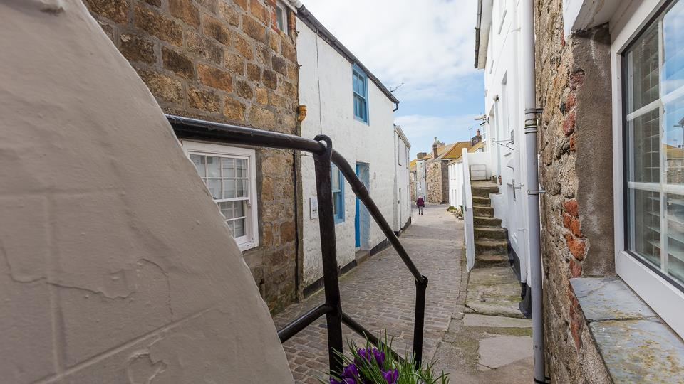 Situated along a beautiful cobbled street.