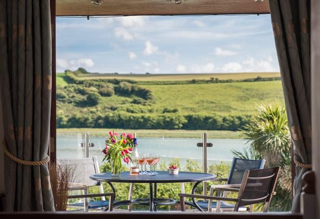 Views from balcony over the Gannel Estuary.