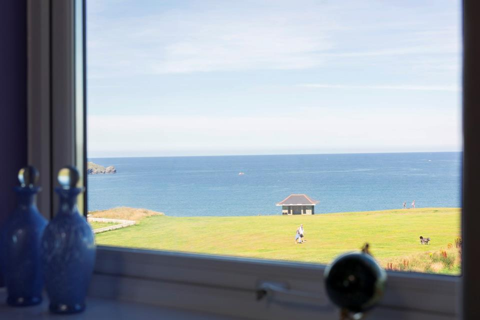 Sea views from double bedroom.