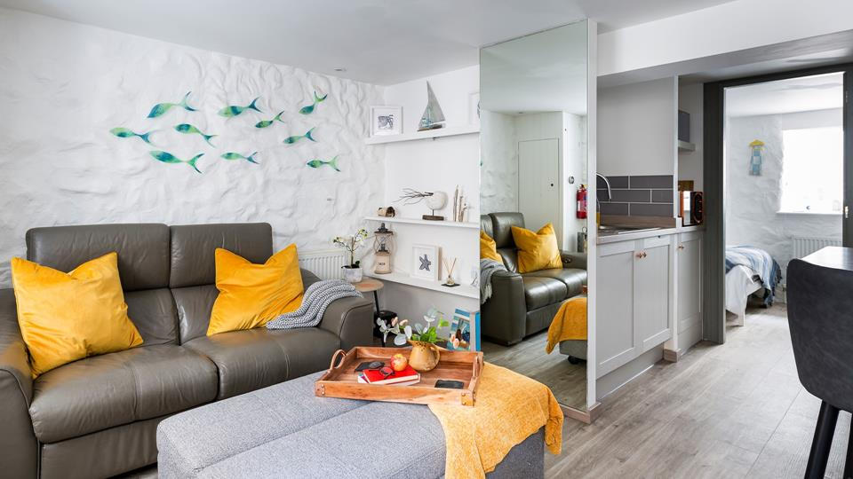 The living space is laid out in an open-plan fashion for a relaxed and comfortable living environment.