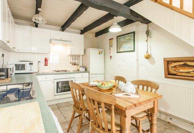 Kitchen/dining room, situated on the lower ground floor.