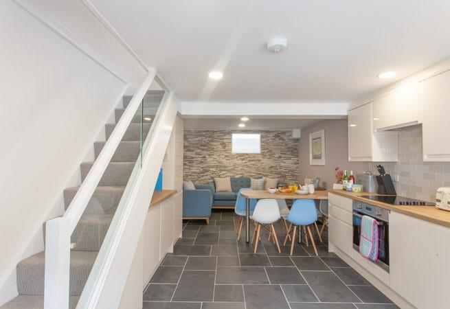 Stunning Kitchen, Dining area and Family room.