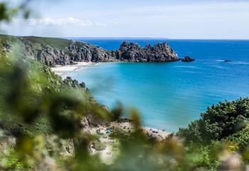 Beautiful Porthcurno beach.