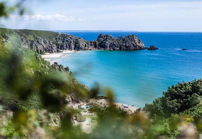 Beautiful Porthcurno beach.