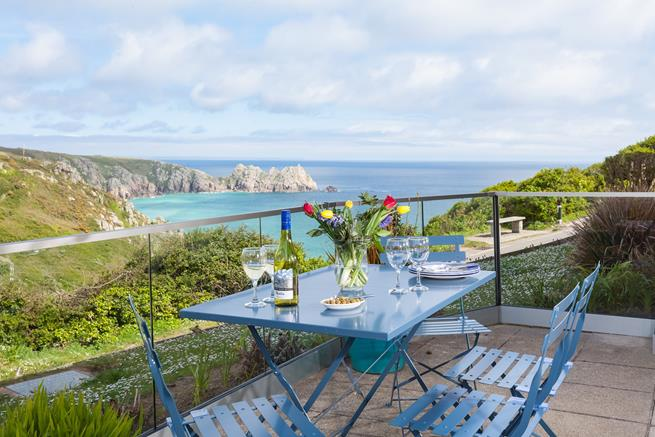 Enjoy a glass of wine with the stunning views.