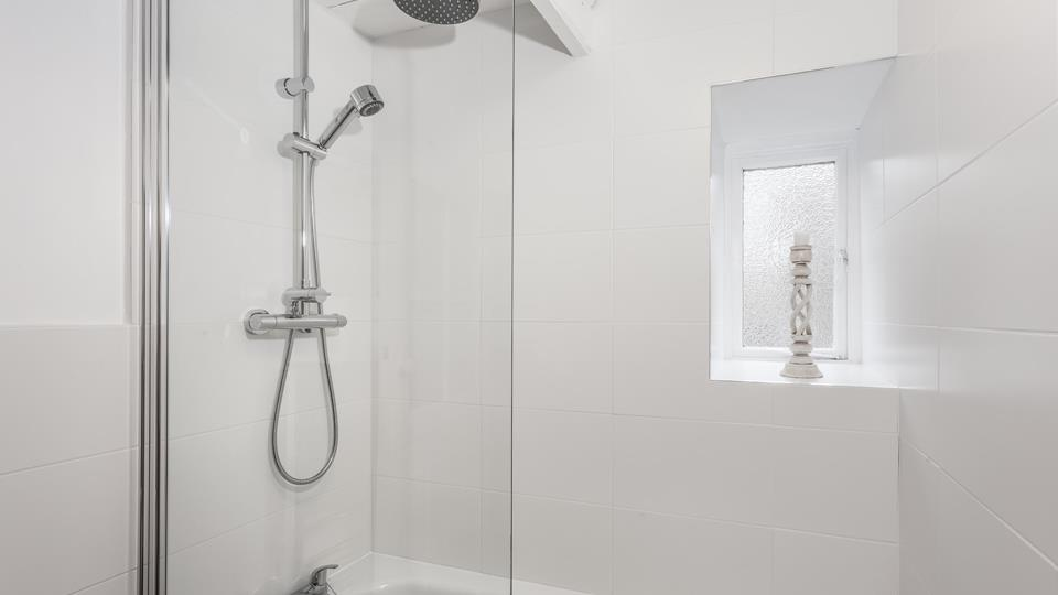 Start your day with an invigorating shower or unwind in the evening with a hot bath.