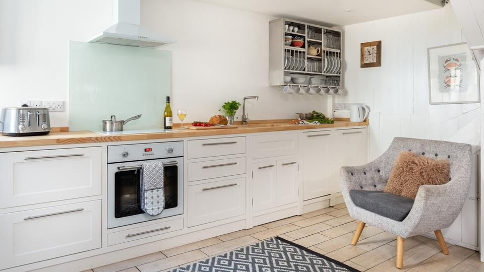 Stylish country kitchen with everything you need to rustle up a feast.