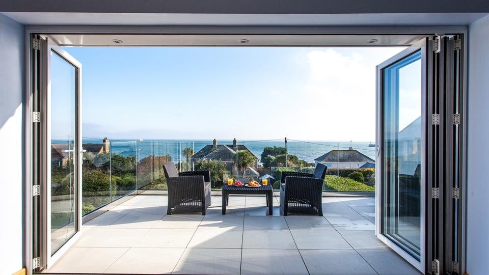 Throw open the doors to your large private balcony and enjoy unrivalled views across Mounts Bay.