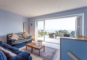 The spacious sitting room opens out to the large private balcony, perfect for enjoying the incredible sea views at any time of the day.