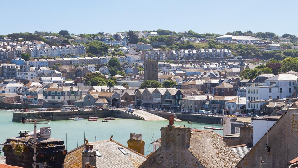 The picturesque view of St Ives.