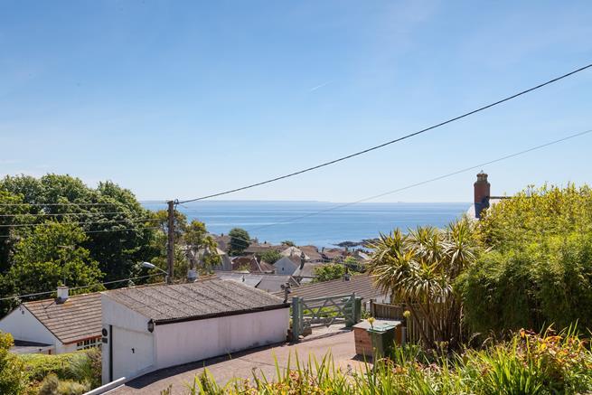 Panoramic sea views.