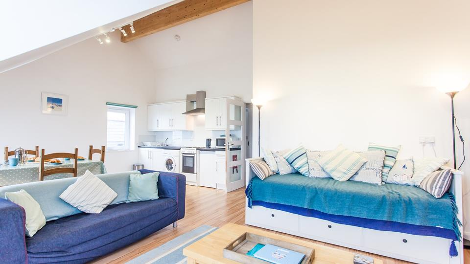The open plan living ensures the property is wonderfully bright and airy.