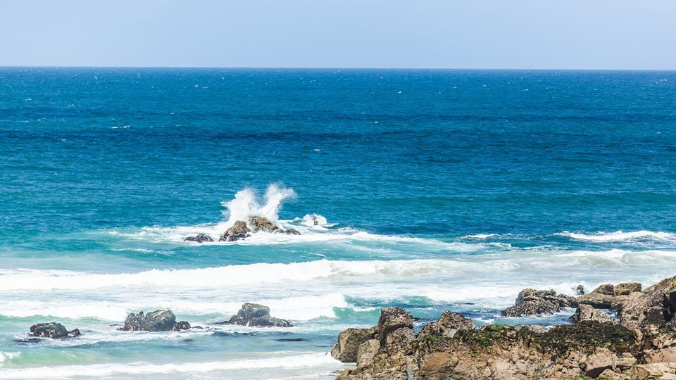 St Ives beach has turquoise blue sea and some stunning rugged coastline with soft light sandy beach.
