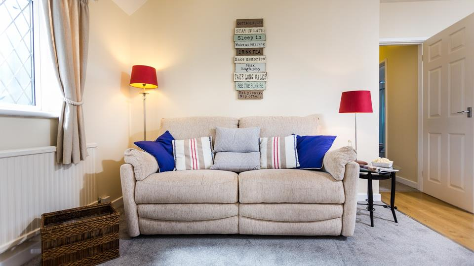 Snuggle up on the sofa together after a busy day exploring Newquay's town, harbour and beaches.