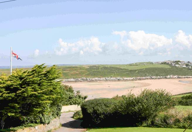 Views over Crantock Beach.