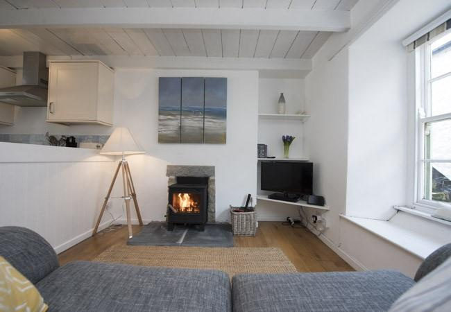 Relax on the sofa and enjoy a DVD or simply enjoy the warmth of the fire