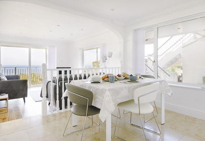 Bright dining area.