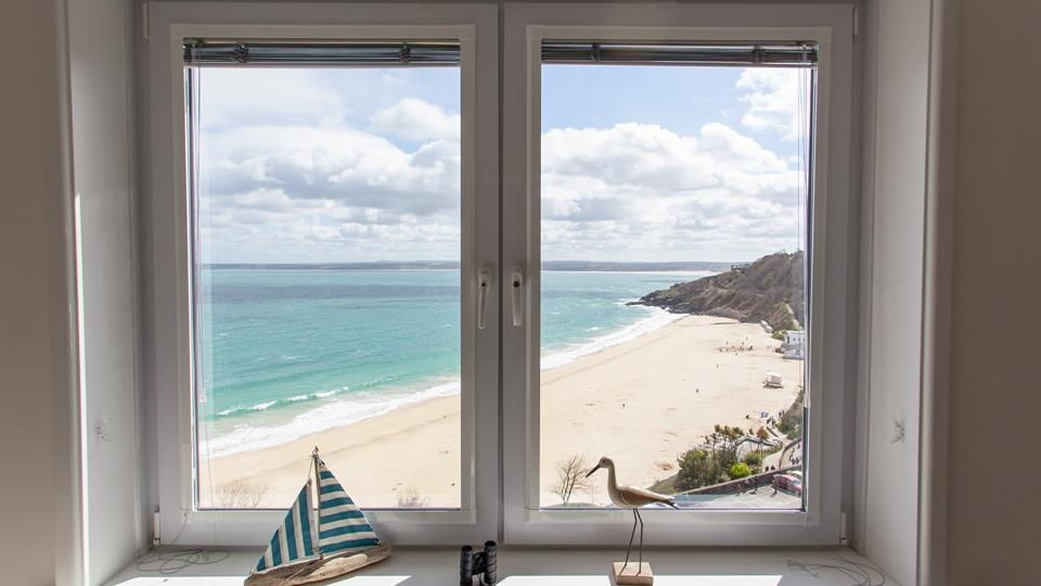 Stunning sea views over Porthminster beach.
