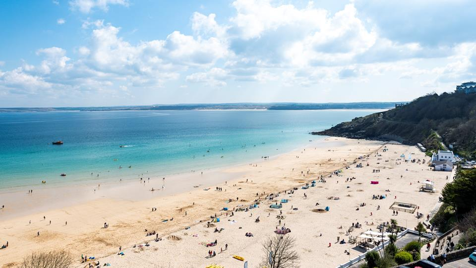 Porthminster beach is a fabulous spot for all ages, offering golden sand and turquoise water.