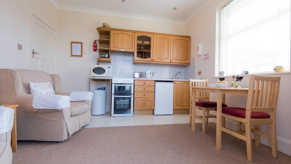 A spacious living area for two to enjoy a peaceful holiday with amazing views.