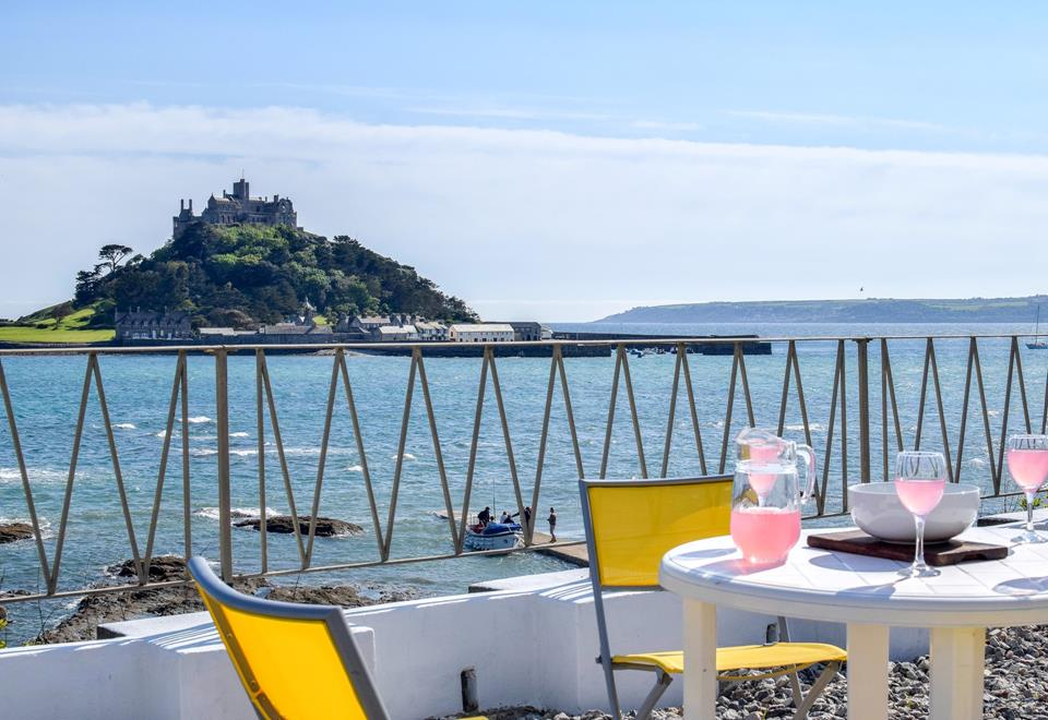Sit out on the terrace and enjoy spectacular views to the iconic St Michael's Mount.