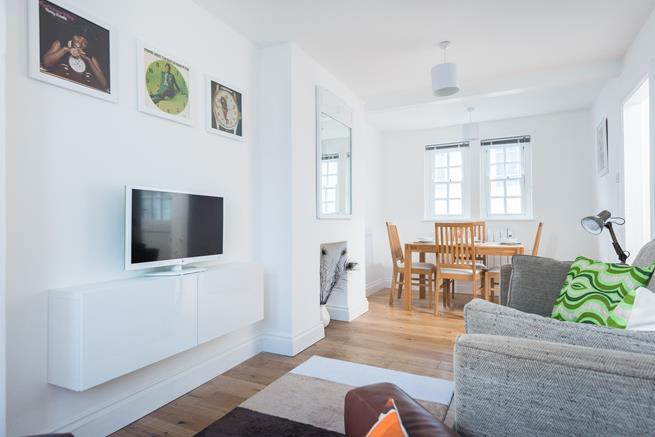 Open plan sitting/dining room.