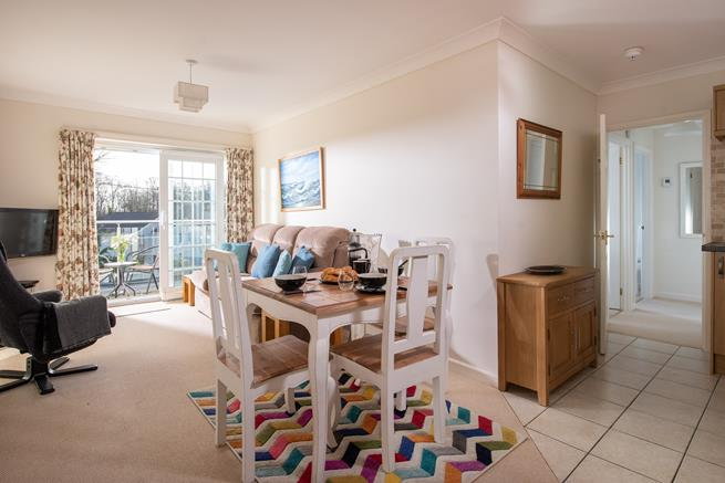 Well presented open plan sitting/dining room.