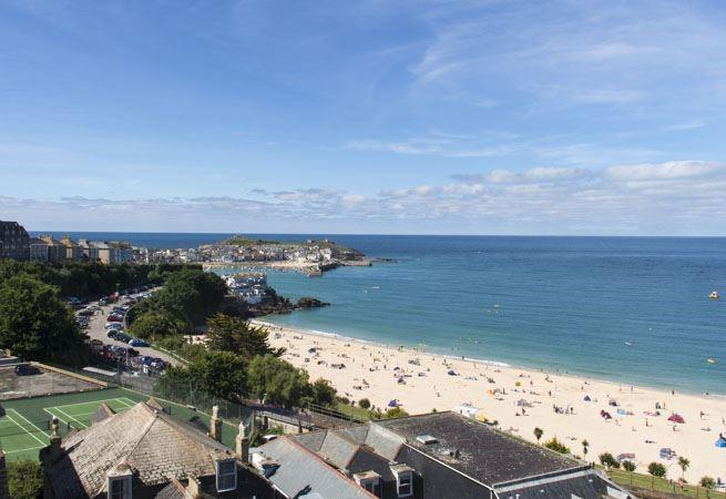 Views of Porthminster beach.