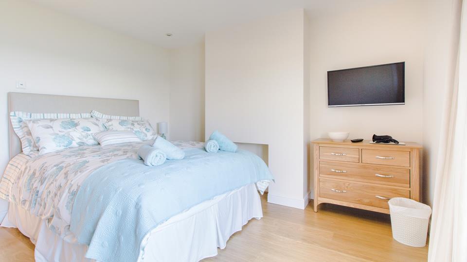 The bedroom/sitting room is wonderfully comfortable.
