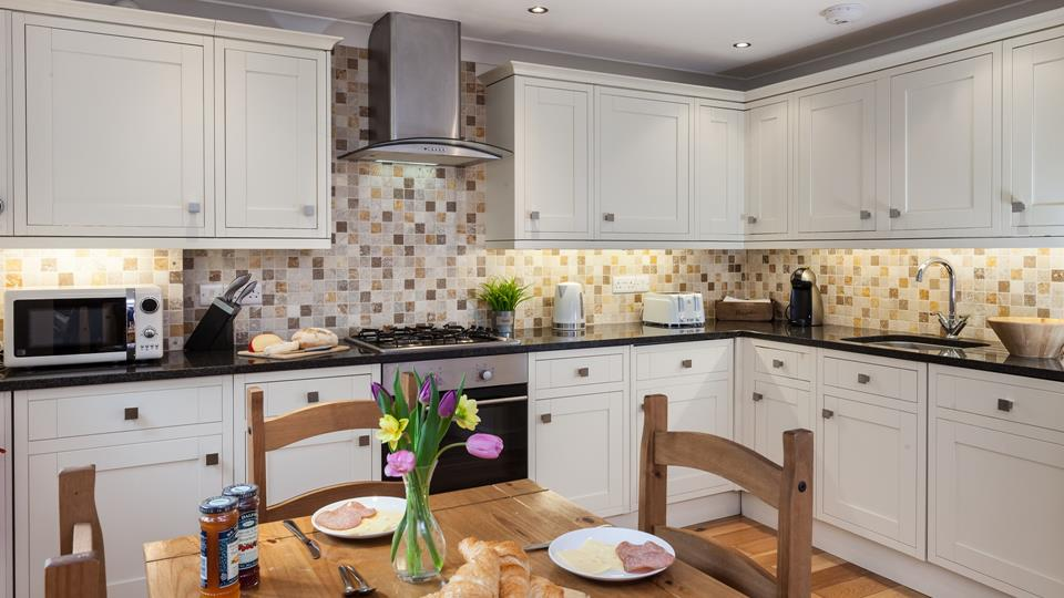 This well equipped kitchen has everything you need to fully enjoy your family holiday in this home.