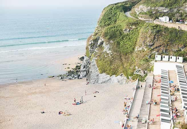 Tolcarne beach is only a short stroll away.