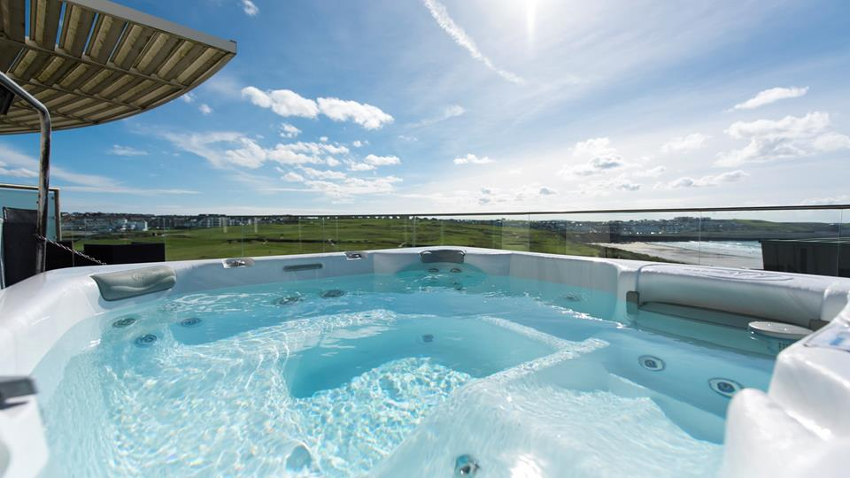 You can well and truly relax in the hot tub on the top balcony.