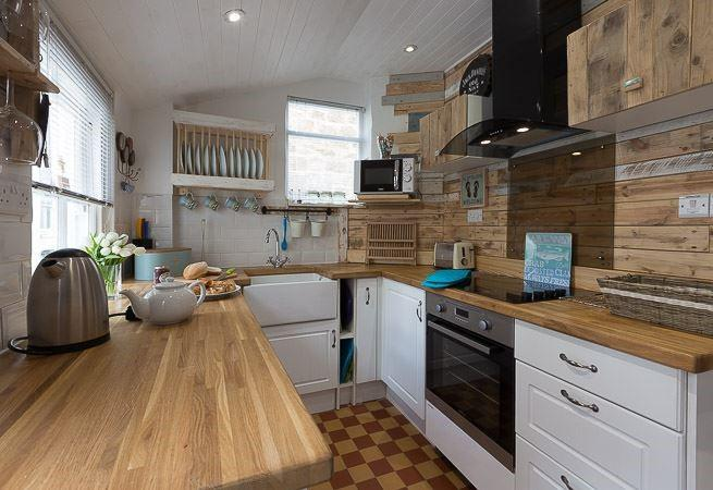 Rusticly decorated kitchen.