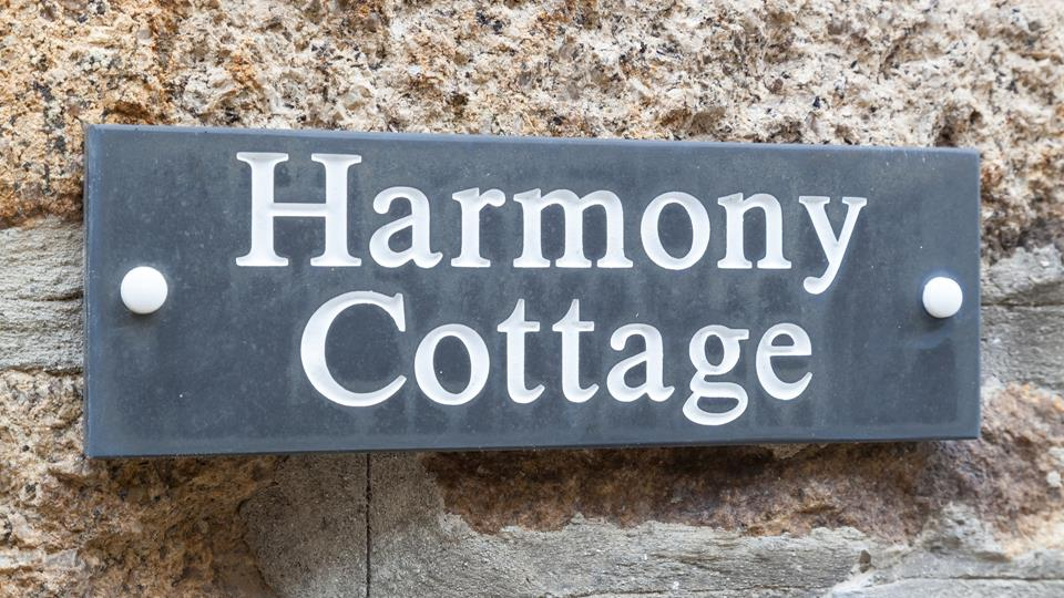Clear slate signage helps make the property easy to find.