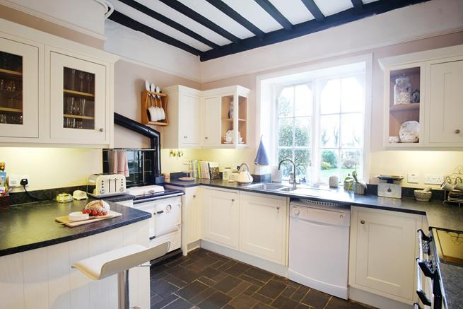Kitchen with traditional AGA.
