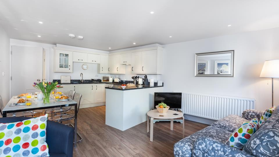 The open plan layout gives the property a wonderful spacious feel.
